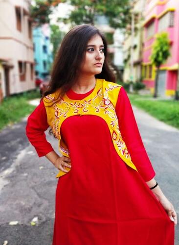 Kurti with jacket of pure cotton13