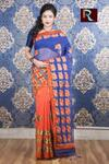 Kachhi Kathiawari work on BD Cotton Saree of amazing color and design1