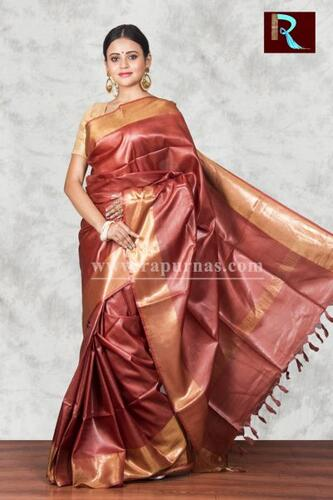 Exquisite Pure Tussar Silk Saree for party wear