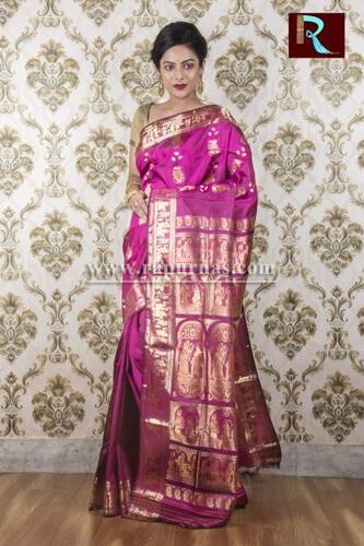 Baluchari Silk Saree of awesome shade and design